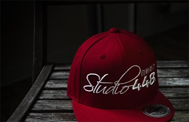 customizable apparel such as caps, hats, and shirts